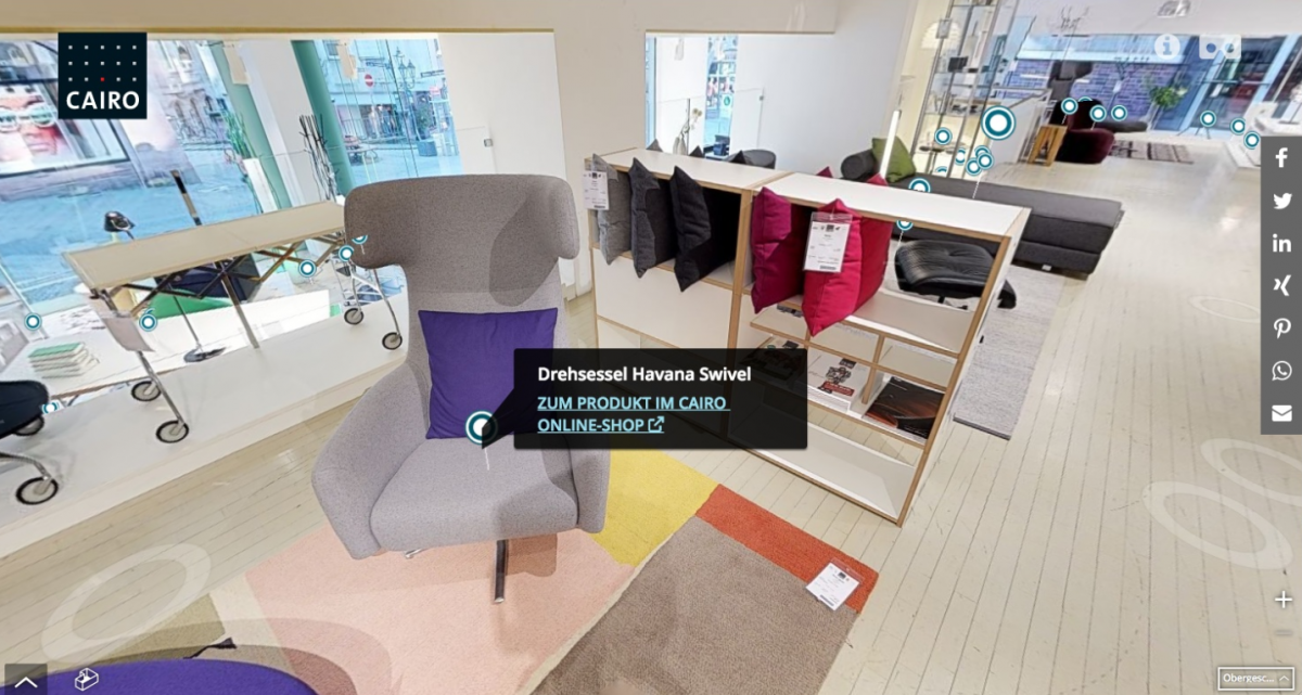 Cairo Designstore Nürnberg Virtuelles Einkaufserlebnis Möbelmarkt
