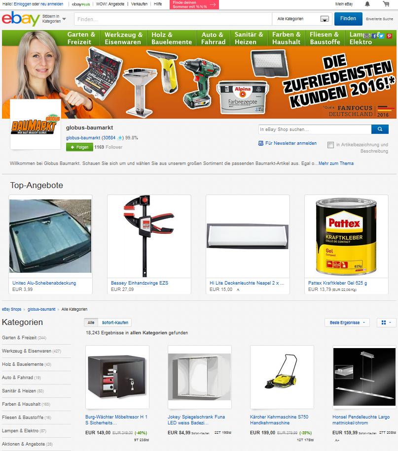 Globus Baumarkt Startet Click Collect Verkauf Bei Ebay